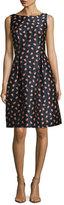 Lela Rose Betsy Floral-Embroidered Dress