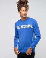 Love Moschino Logo Jumper