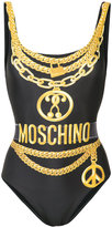 Moschino chain illusion print swimsuit - women - Polyester/Spandex/Elastane - 38