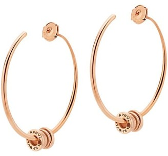 Bvlgari B.zero1 18K Rose Gold Large Hoop Earrings