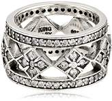 King Baby Studio Wide Band with MB Cross and Cubic Zirconia Ring