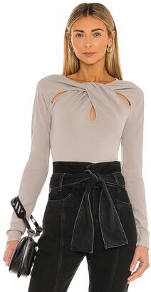 NBD Drape Front Bodysuit