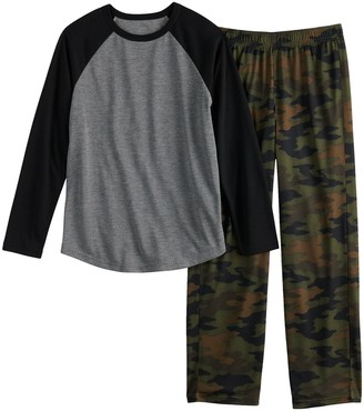 Urban Pipeline Boys 4-20 & Husky Raglan Top & Bottoms Pajama Set