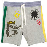 Burberry Badger Drawings Jersey Shorts, Size 4-14