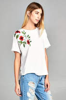 Paper Crane Rose Embroidered Top