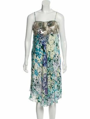 Missoni Embellished Floral Print Dress green