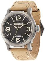 Timberland Men's Quartz Watch with Black Dial Analogue Display and Brown Leather Strap 14815JSU/02