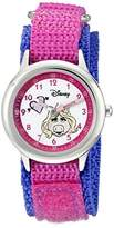 Disney By Ewatchfactory Kids Miss Piggy Quartz Watch with White Dial Time Teacher Display and Pink Nylon Strap W000164