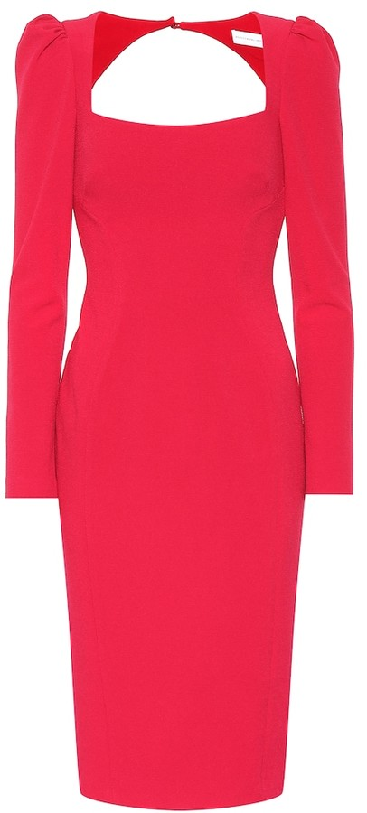 Rebecca Vallance Briar crApe cutout dress