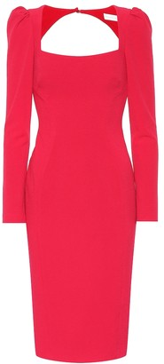Rebecca Vallance Briar crepe cutout dress