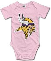 Enlove Minnesota Vikings BABY Funny Short Sleeves Variety Baby Onesies Jumpsuit For Little Baby