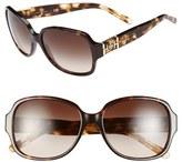 Tory Burch Women's 'P Square' 57Mm Sunglasses - Dark Tortoise
