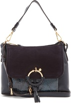 See by Chloe Joan small suede-panelled leather cross-body bag