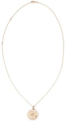 Anita Ko 18kt rose gold Virgo zodiac coin diamond pendant necklace