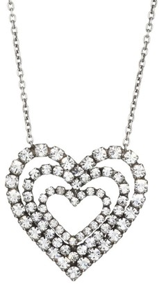 Dannijo Cheri Triple-Layer Heart Pendant Necklace