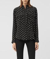 AllSaints Maria Flic Silk Shirt