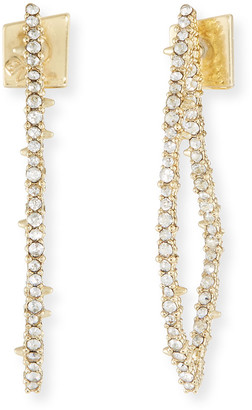 Alexis Bittar Crystal Abstract Thorn Earrings