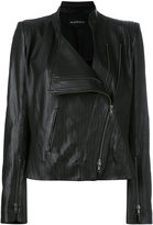 Ann Demeulemeester zig zag detail biker jacket - women - Leather - 36