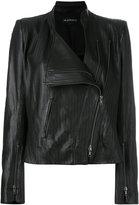 Ann Demeulemeester zig zag detail biker jacket