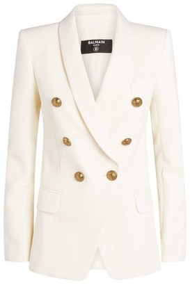 Balmain Oversized Wool Double-Breasted Blazer
