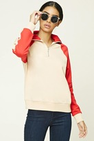 Forever 21 Colorblocked Zip Pullover