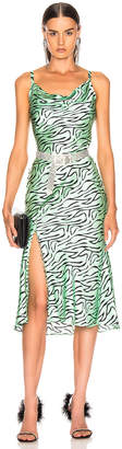 Olivia Rubin Lia Slip Dress in Mint Zebra   FWRD