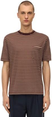 Lanvin Striped Cotton Jersey T-shirt