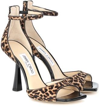 Jimmy Choo Reon 100 calf-hair sandals