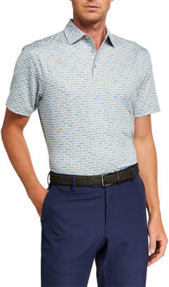 Peter Millar Men's Ted American Muscle Car-Print Jersey Polo Shirt