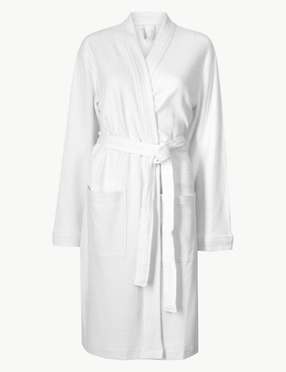 Marks and Spencer Pure Cotton Waffle Dressing Gown