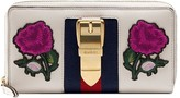 Gucci multicoloured Sylvie embroidered leather zip around wallet