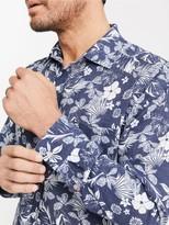 J.Mclaughlin Gramercy Classic Fit Linen Shirt in Floral