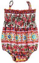 Dolce & Gabbana Mambo Print Cotton Poplin Bodysuit