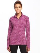 Old Navy Go-Dry Space-Dye 1/4-Zip Pullover for Women