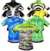 WOSAWE Mens Breathable Cycling Jersey Short Sleeves (Flash Jersey,)