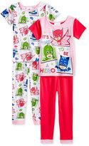 PJ Masks 4-Pc. Time To Be A Hero Cotton Pajama Set, Toddler Girls (2T-5T)