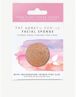 Selfridges The Konjac Sponge Company Heart-shaped Konjac facial sponge with nourishing pink clay