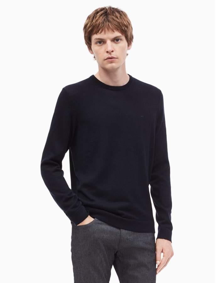 Calvin Klein new essentials regular fit merino wool crewneck sweater