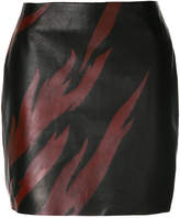 Saint Laurent flame print mini skirt