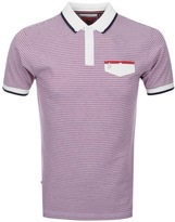 Luke 1977 Paul Stripe Polo T Shirt Red