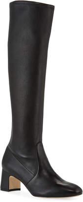 Stuart Weitzman Milla Stretch-Napa Knee Boots