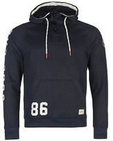 Soul Cal SoulCal Mens Button Ribbed Hoody OTH Hoodie Long Sleeve Hooded Casual Top