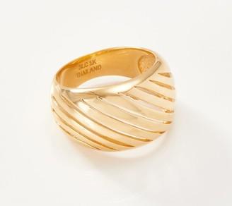 Gold One 1K Gold Openwork Diagonal Design Ring