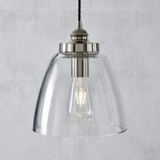 The White Company Aldeburgh Large Glass Pendant Light, Clear, One Size