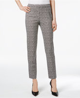 Charter Club Printed Tummy-Control Ankle Pants, Only at Macy's