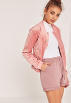 Missguided Turn Up Jogger Shorts Pink