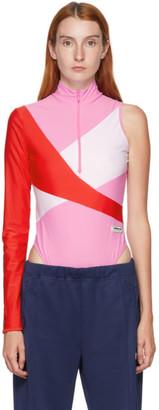 adidas LOTTA VOLKOVA Pink Colorblocked One Sleeve Bodysuit