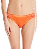 Lucky Brand Women's Vacation Vibe Hand-Dyed Tab-Side Hipster Bikini Bottom