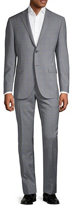Corneliani Academy Regular-Fit Plaid Wool Suit