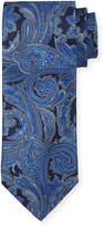Neiman Marcus Italian-Made Paisley Silk Printed Tie